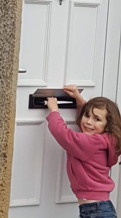 One little Beaver Scout delivering Christmas Post this morning
